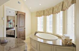 Elegant bathroom with large tub