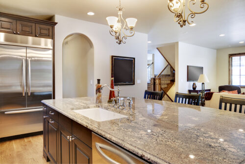 Kitchen with clean view